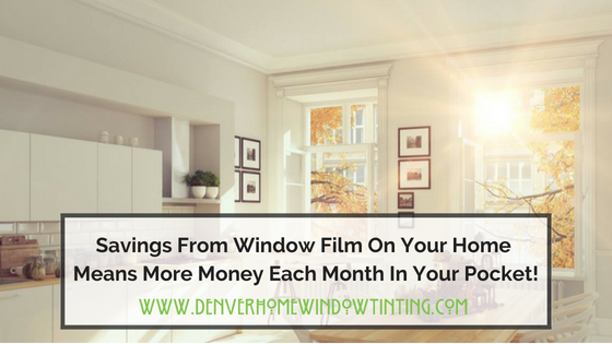utility bill savings window film denver