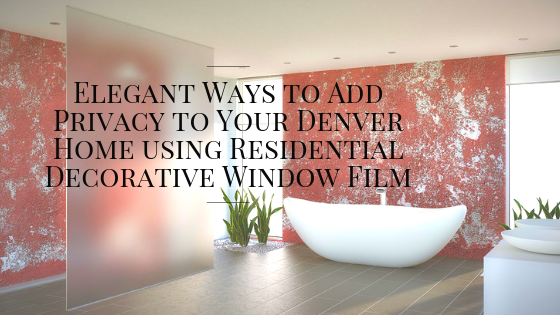 residential decorative window film denver