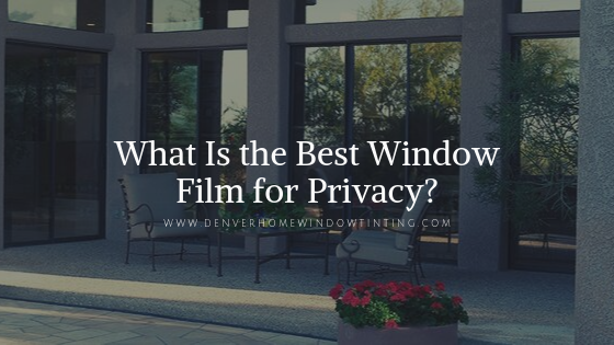 best privacy window film denver